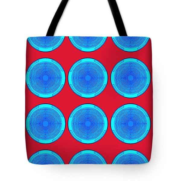 Bubbles Minty Blue Poster Tote Bag