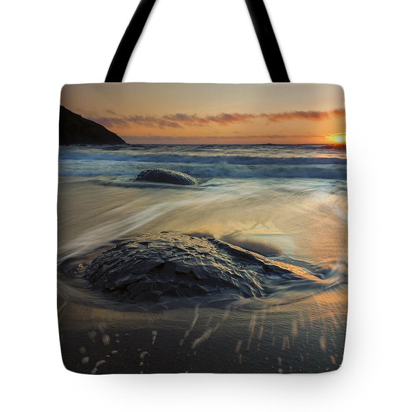 Bubbles On The Sand Tote Bag by Mike  Dawson