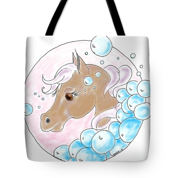 Bubbles Profile Tote Bag