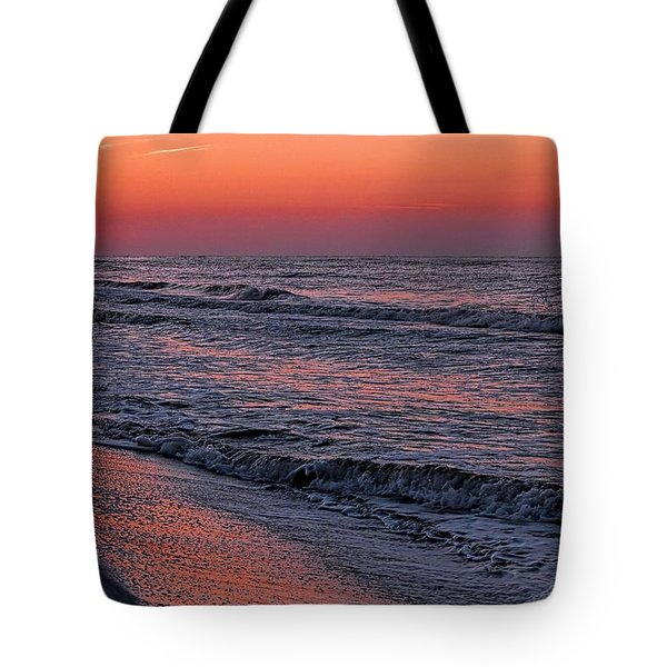 Tote Bag featuring the digital art Bubbling Surf by Michael Thomas