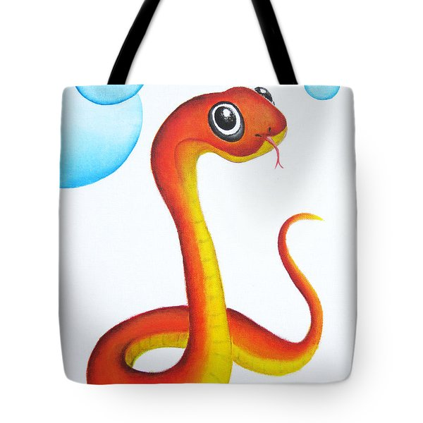 Bubbly Baby Snake Tote Bag by Oiyee At Oystudio