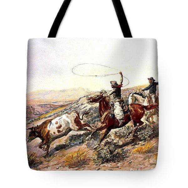 Buccaroos Tote Bag by Charles Russell
