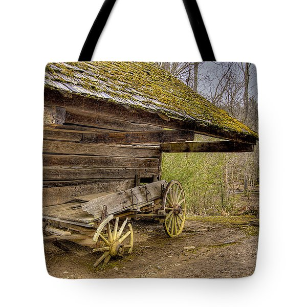 Tote Bag featuring the photograph Buckboard by Photography by Laura Lee