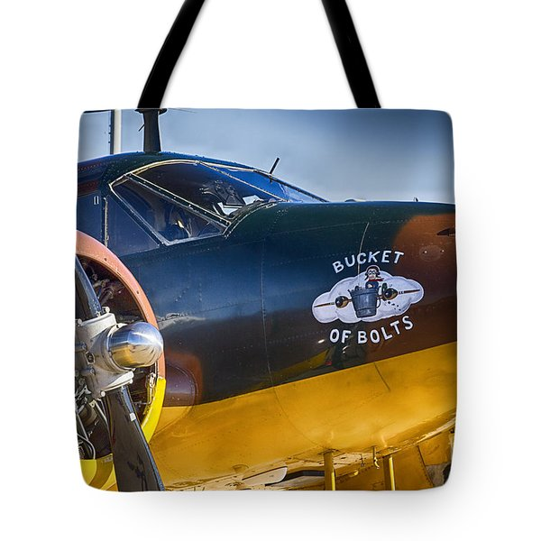 Bucket Of Bolts Tote Bag by Douglas Barnard