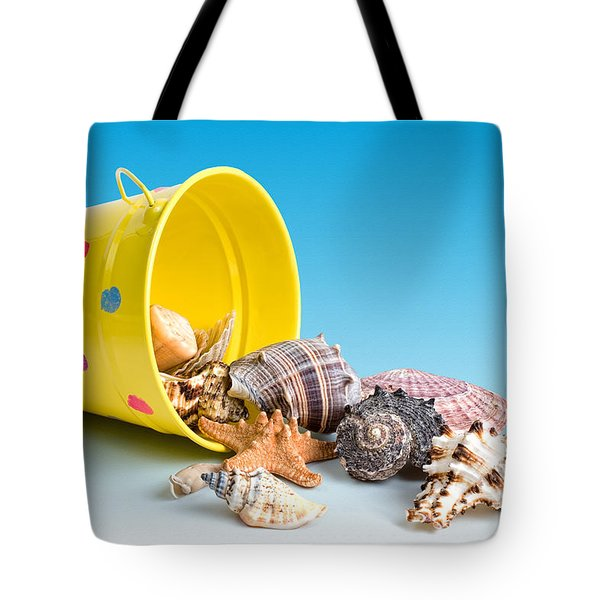 Bucket Of Seashells Still Life Tote Bag