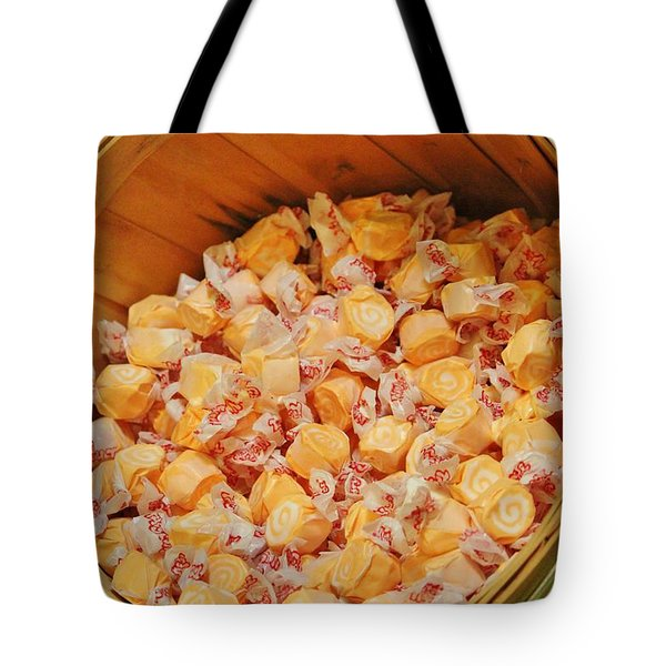 Tote Bag featuring the photograph Bucket Of Taffy by Cynthia Guinn