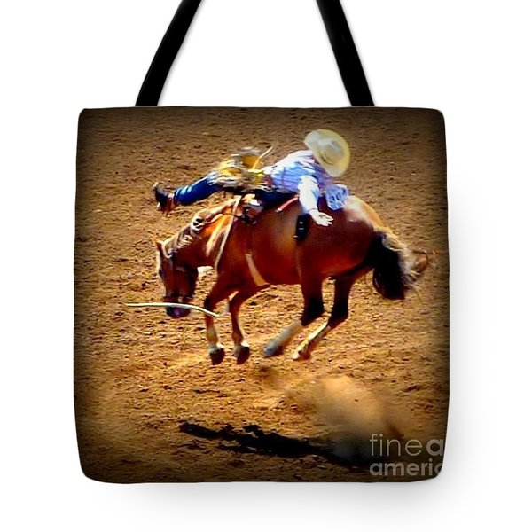 Tote Bag featuring the photograph Bucking Broncos Rodeo Time by Susan Garren
