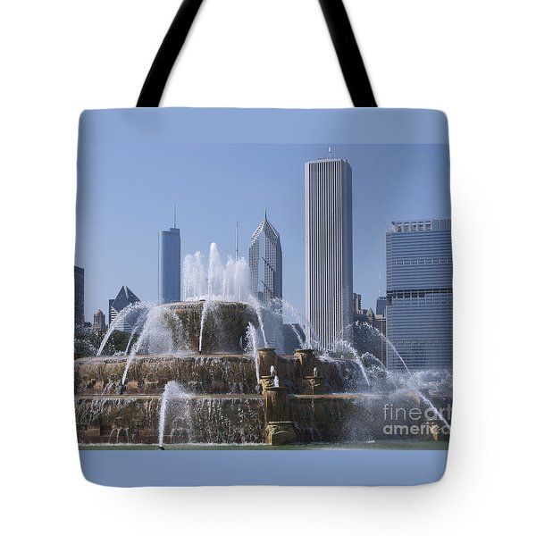 Buckingham Fountain Revisited Tote Bag by Ann Horn