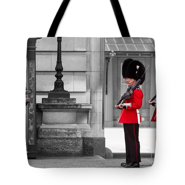 Buckingham Palace Guards Tote Bag by Matt Malloy