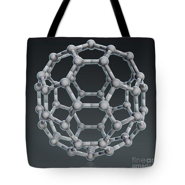 Buckminsterfullerene Molecular Model Tote Bag by Evan Oto