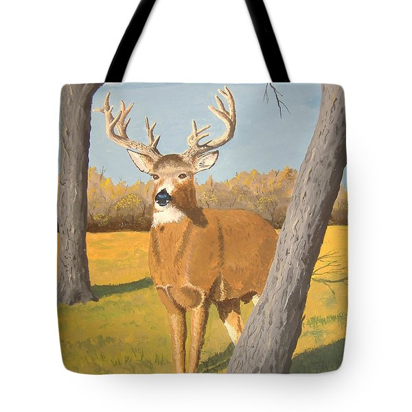 Bucky The Deer Tote Bag by Norm Starks