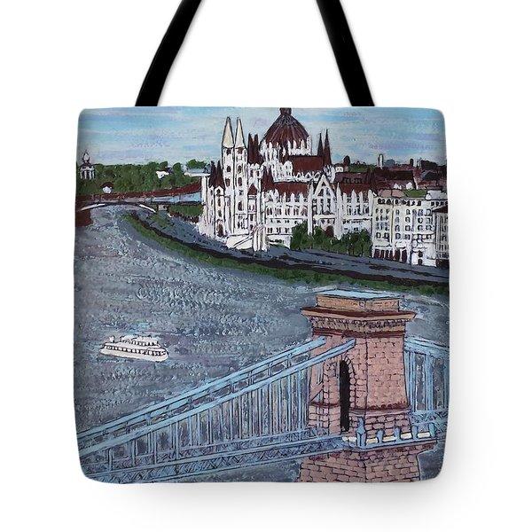 Budapest Bridge Tote Bag by Jasna Gopic