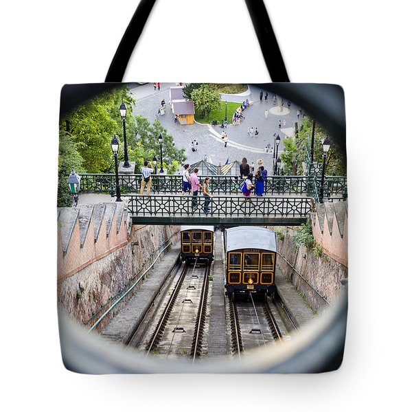 Budapest Castle Hill Funicular Tote Bag