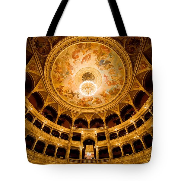 Budapest Opera House Auditorium Tote Bag