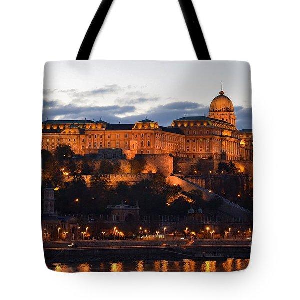 Budapest Palace At Night Hungary Tote Bag by Imran Ahmed