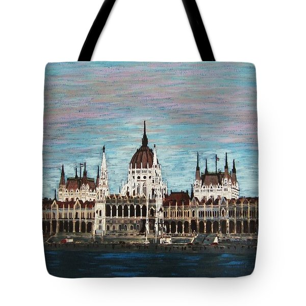 Budapest Parliament By Jasna Gopic Tote Bag by Jasna Gopic
