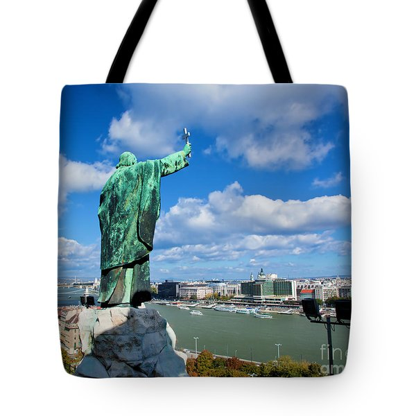 Budapest. View From Gellert Hill Tote Bag by Michal Bednarek
