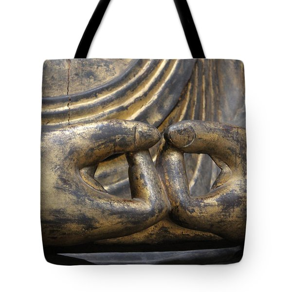 Tote Bag featuring the photograph Buddha 3 by Lynn Sprowl