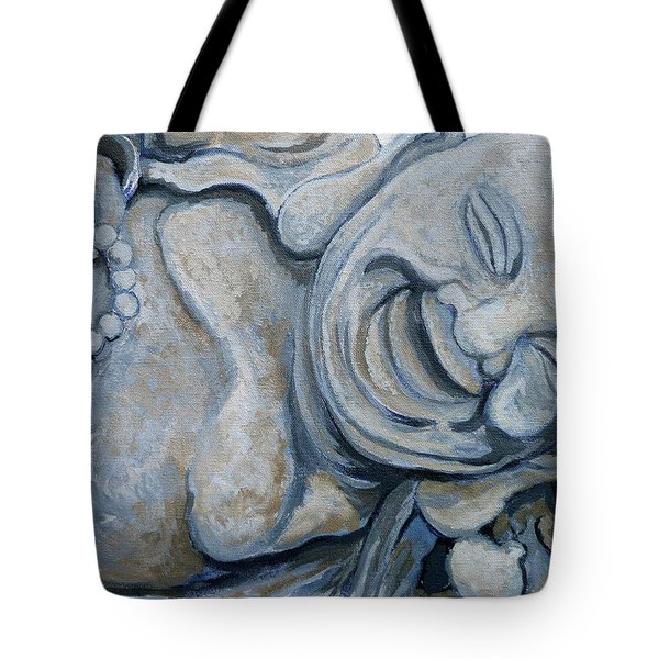 Tote Bag featuring the painting Buddha Bella by Tom Roderick