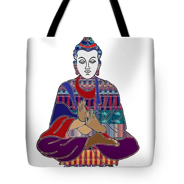 Buddha In Meditation Buddhism Master Teacher Spiritual Guru By Navinjoshi At Fineartamerica.com Tote Bag