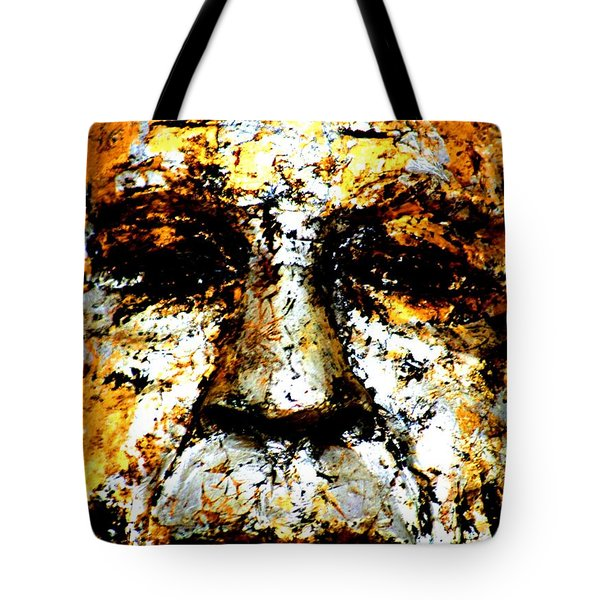 Tote Bag featuring the photograph Buddha Face by Nola Lee Kelsey