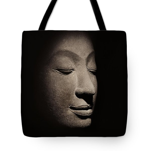 Buddha Head From The Early Ayutthaya Period Tote Bag