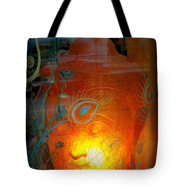Buddha Head Tote Bag