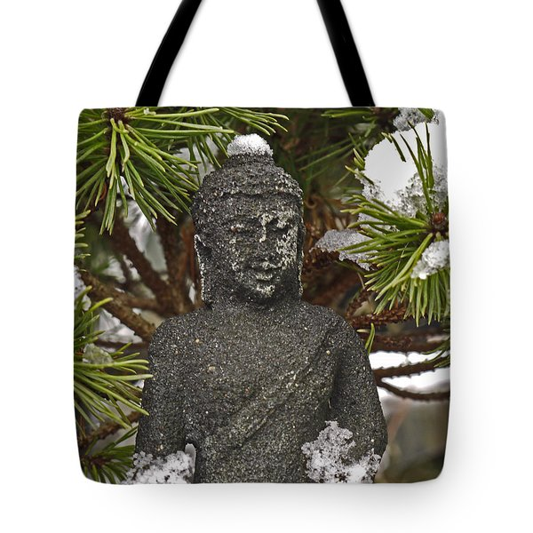 Buddha In The Snow Tote Bag