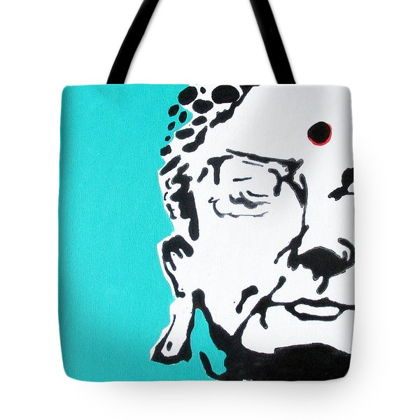 Tote Bag featuring the painting Buddha by Nicole Gaitan