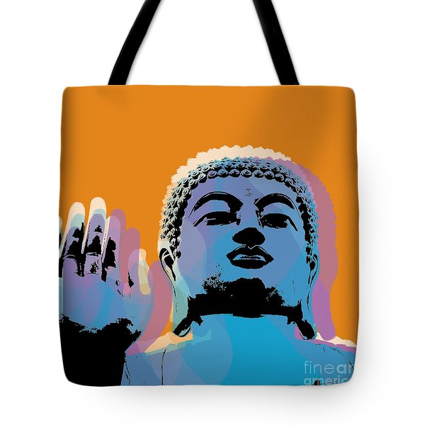 Buddha Pop Art - Warhol Style Tote Bag by Jean luc Comperat