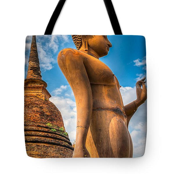 Buddha Statue Tote Bag by Adrian Evans