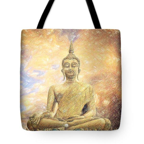Buddha Tote Bag by Taylan Apukovska