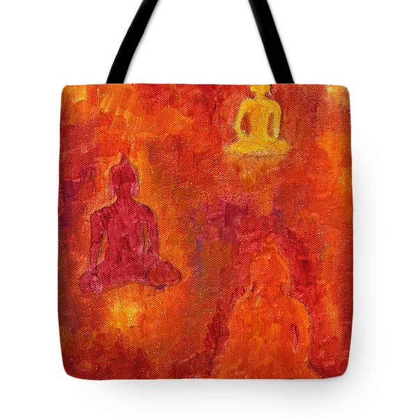 Buddhas Of Compassion Tote Bag