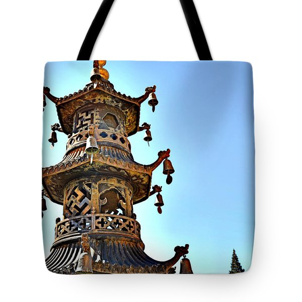 Buddhist Bells Tote Bag
