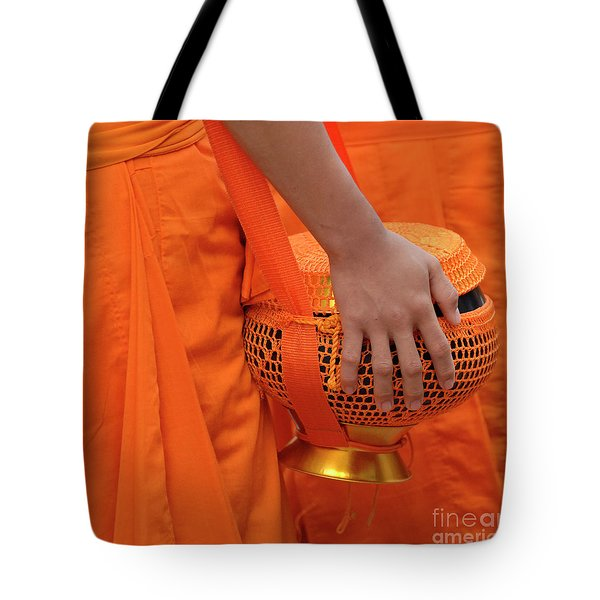 Buddhist Monks Hand Tote Bag by Bob Christopher
