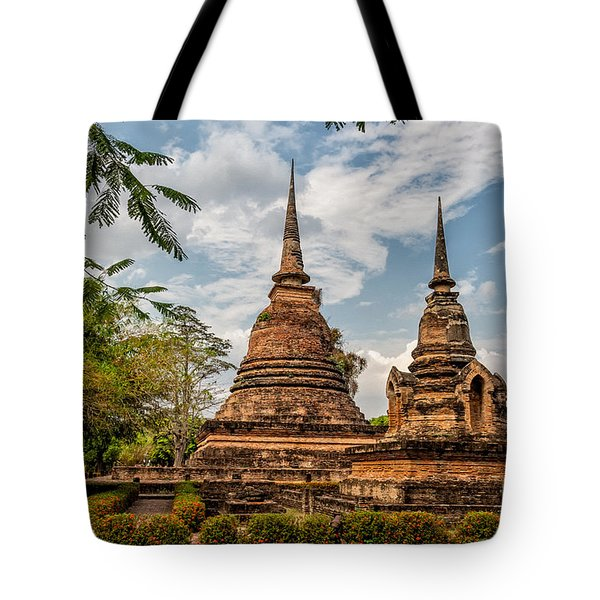 Buddhist Park Tote Bag by Adrian Evans