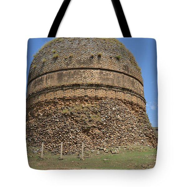 Buddhist Religious Stupa Horse And Mules Swat Valley Pakistan Tote Bag