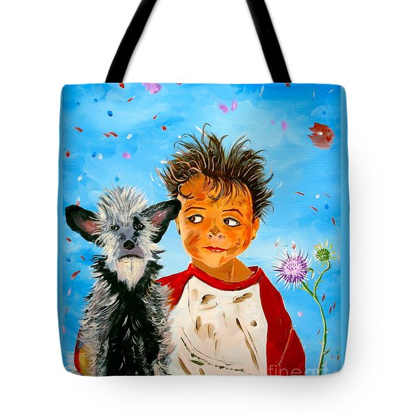 Tote Bag featuring the painting Buddies by Phyllis Kaltenbach