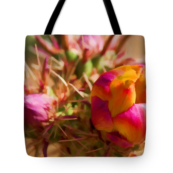 Budding Cactus Tote Bag by Fred Larson