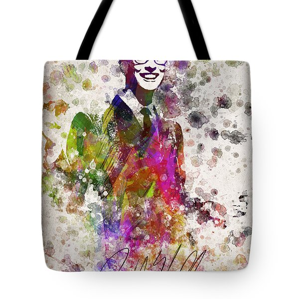 Buddy Holly In Color Tote Bag by Aged Pixel