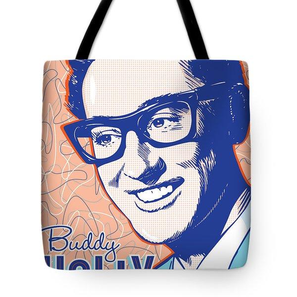 Buddy Holly Pop Art Tote Bag
