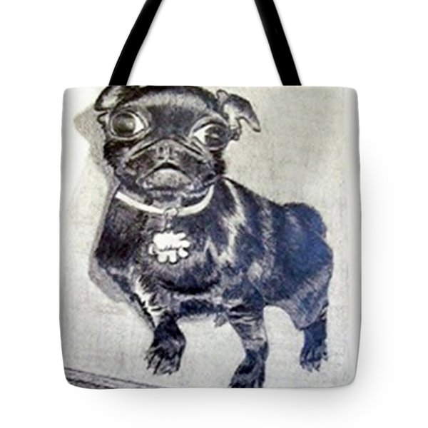 Tote Bag featuring the drawing Buddy by Jamie Frier