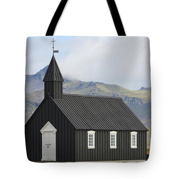 Budir Church Stadarsveit, Snaefellsnes Tote Bag by Michael Thornton