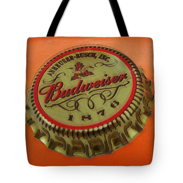 Budweiser Cap Tote Bag by Tony Rubino