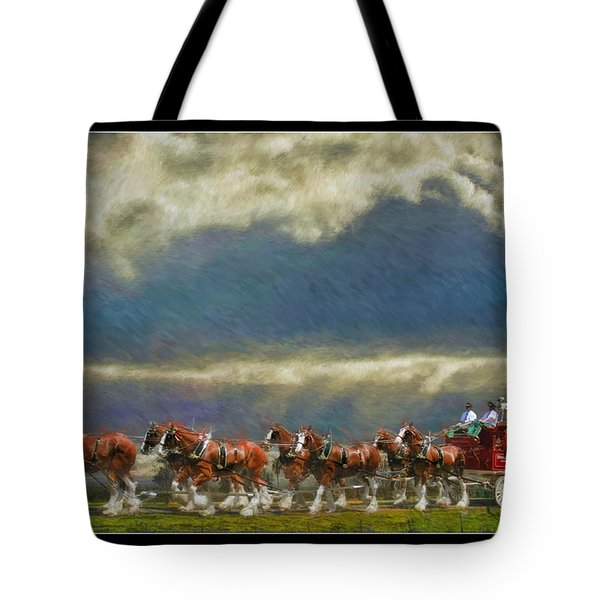 Budweiser Clydesdale Paint 2 Tote Bag