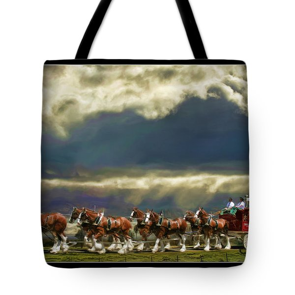 Budweiser Clydesdales Paint 1 Tote Bag