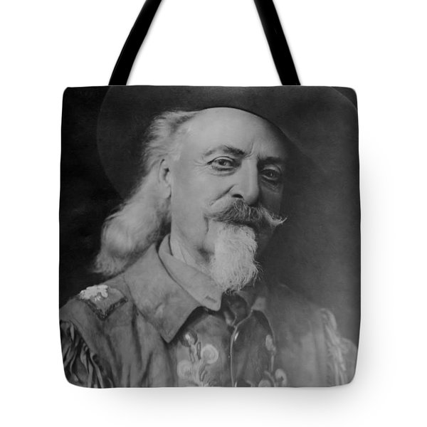 Tote Bag featuring the photograph Buffalo Bill Cody by Charles Beeler