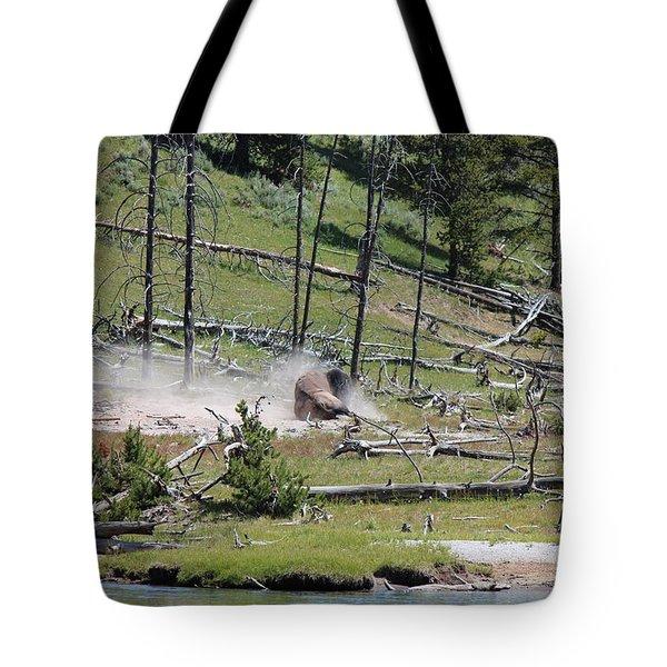 Buffalo Dust Bath Tote Bag