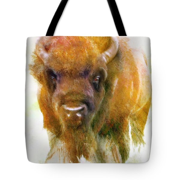 Da176 Buffalo II Daniel Adams Tote Bag