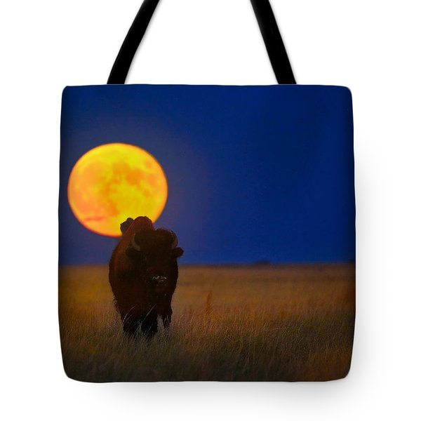 Buffalo Moon Tote Bag by Kadek Susanto